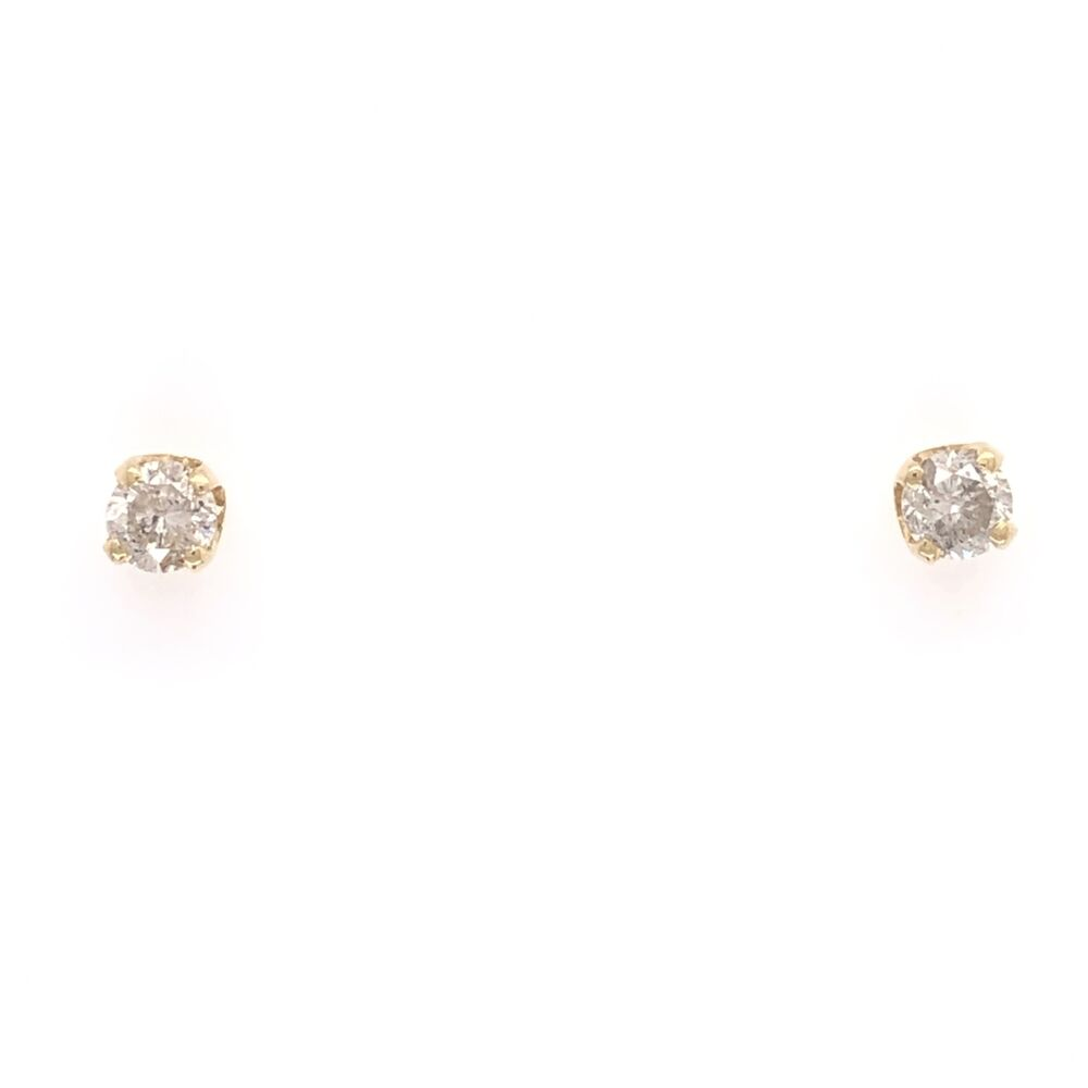 14K Yellow Gold .45tcw Stud Earrings 1.0g, Friction Backs