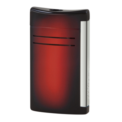 Closeup photo of S. T. Dupont Maxijet Glossy Sunburst Red Lighter