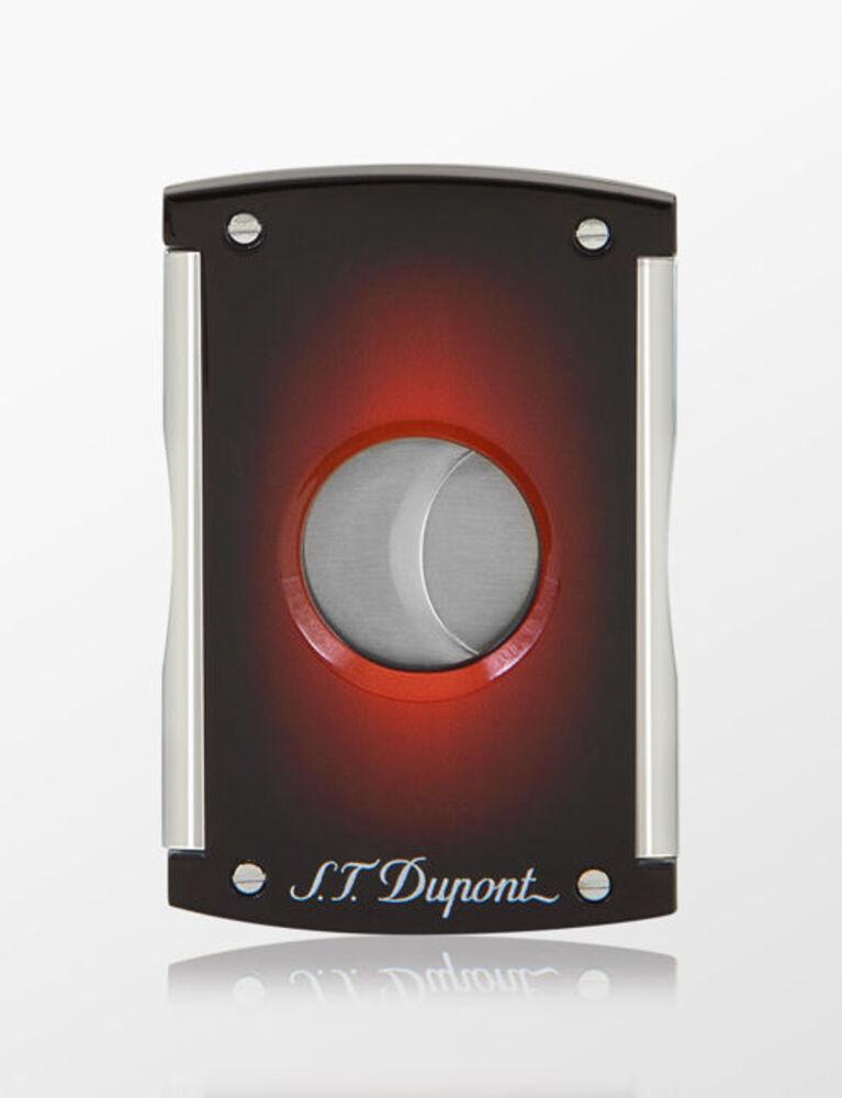 S.T. Dupont Cigar Cutter Maxijet Sunburst Red Brown
