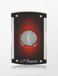 Closeup photo of S.T. Dupont Cigar Cutter Maxijet Sunburst Red Brown