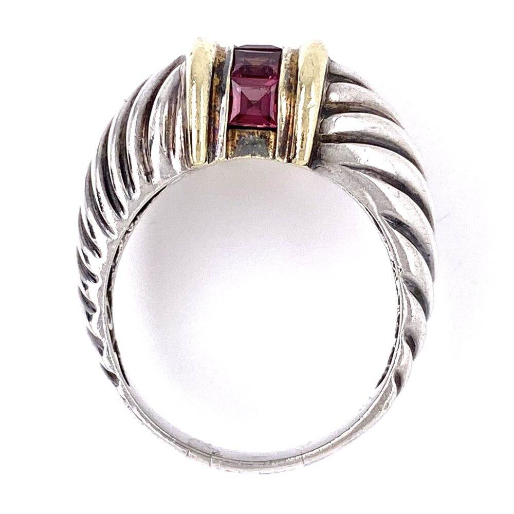 Image 2 for 14K & 925 Sterling D. Yurman Purple Garnet Ring 7.1g, s8.25