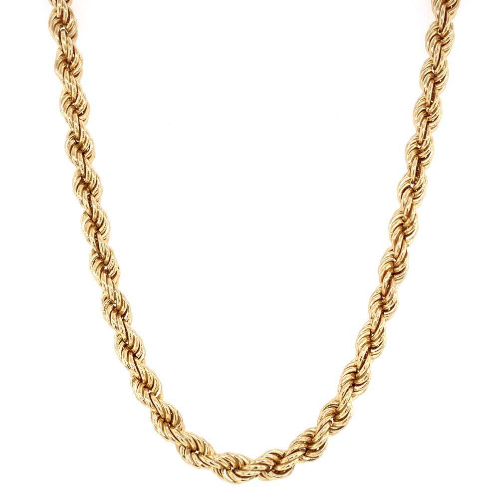 "14K Yellow Gold 24"" 4mm Rope Chain 13.2g"