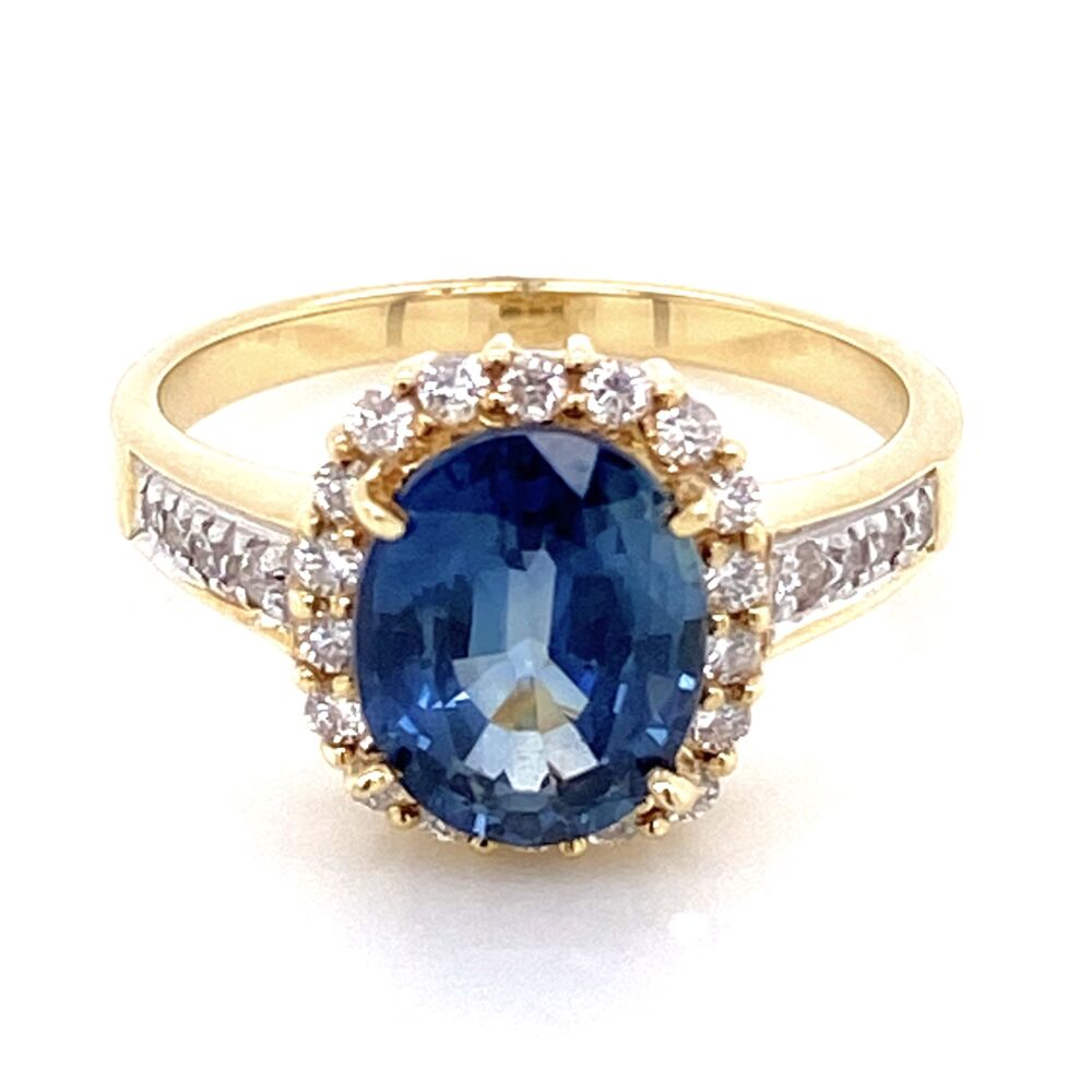Image 2 for 18K Yellow Gold 2.75ct Oval Sapphire & .40tcw Diamond Ring 5.2g, s6.25
