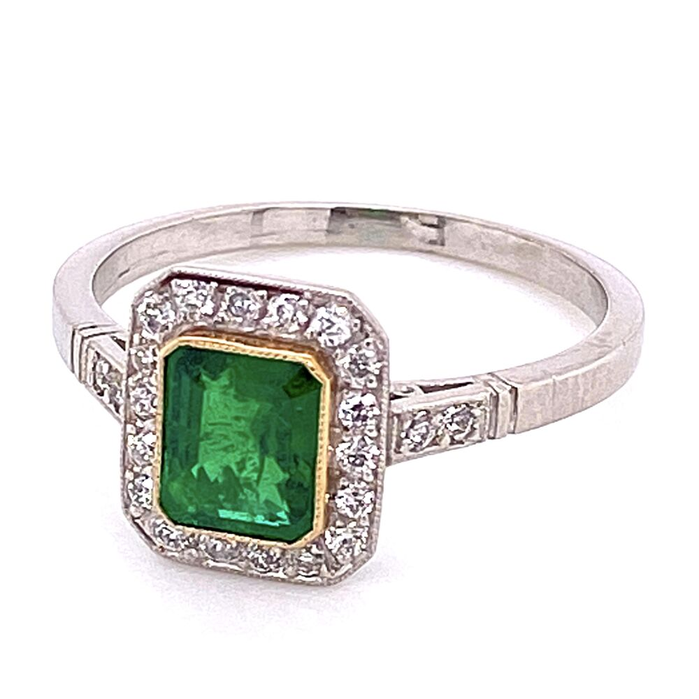 Image 2 for Platinum 1ct Emerald & .24tcw Diamonds 3.7g, s7