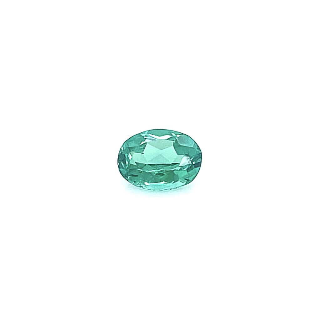 Loose 1.10ct Oval Blue-Green Tourmaline 7.66x5.84x3.67