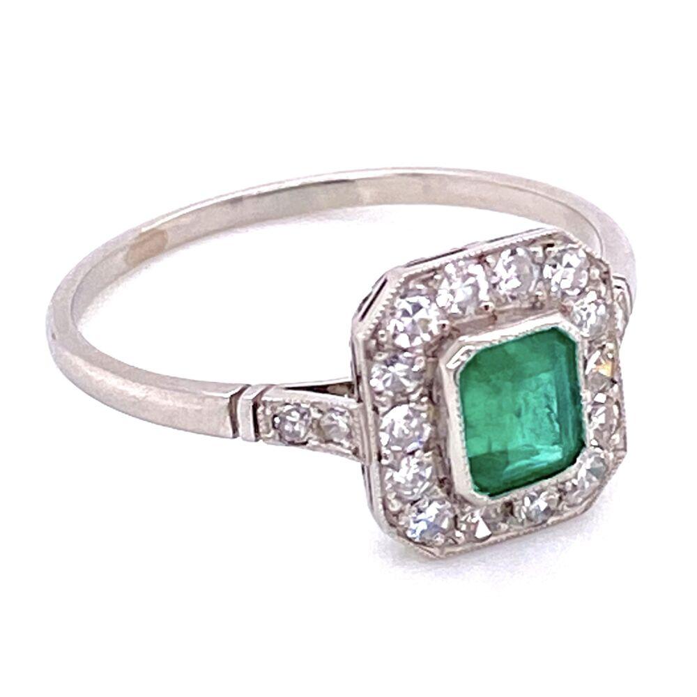 Image 2 for Platinum .58ct Emerald & .52tcw Diamond Ring, s8