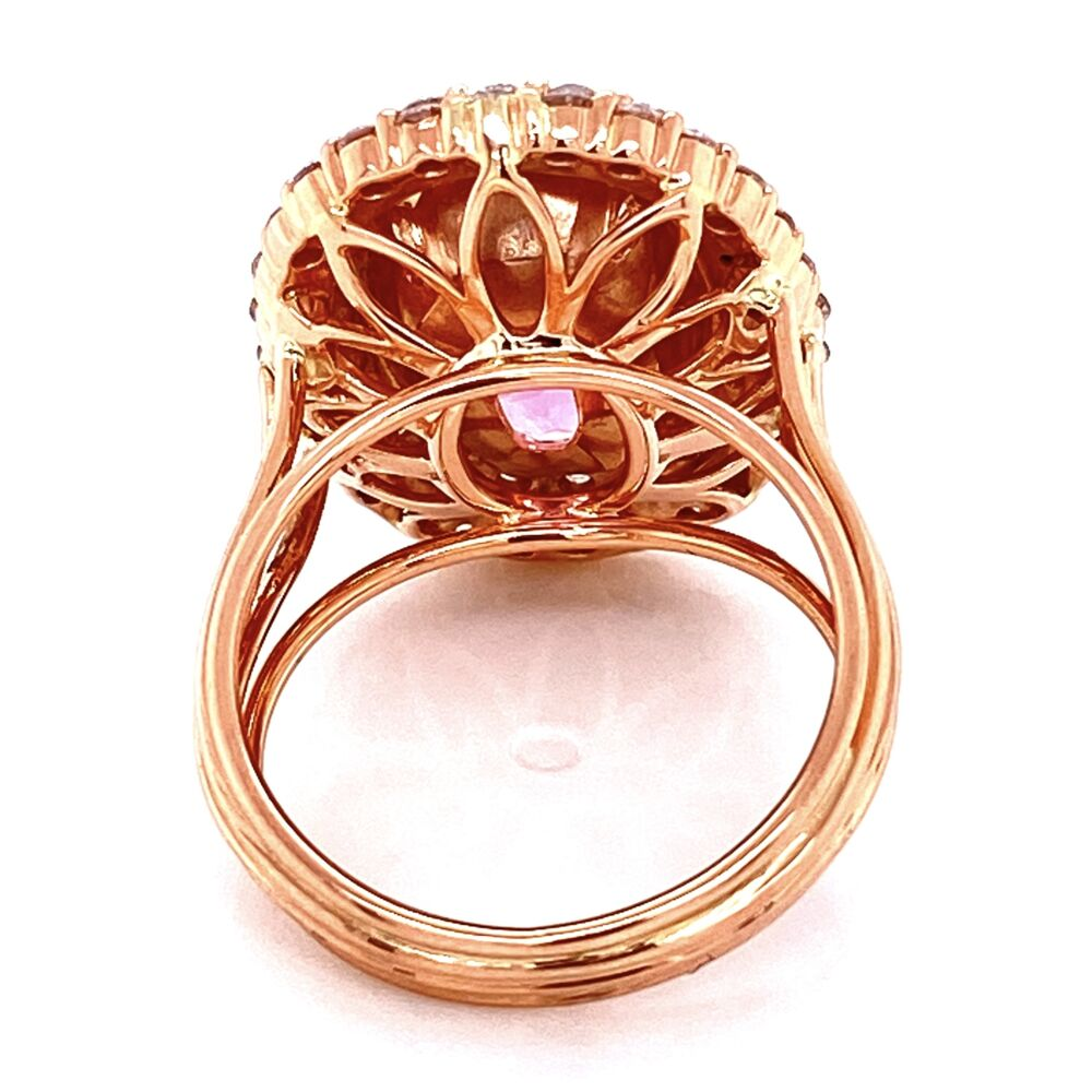 14K Rose Gold 7.47ct Oval Spinel & .85tcw Diamond Ring, s6.5
