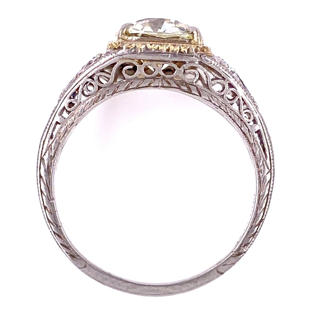 Image 2 for Platinum Art Deco 1.62ct Old Mine Diamond Ring with .32tcw, s6
