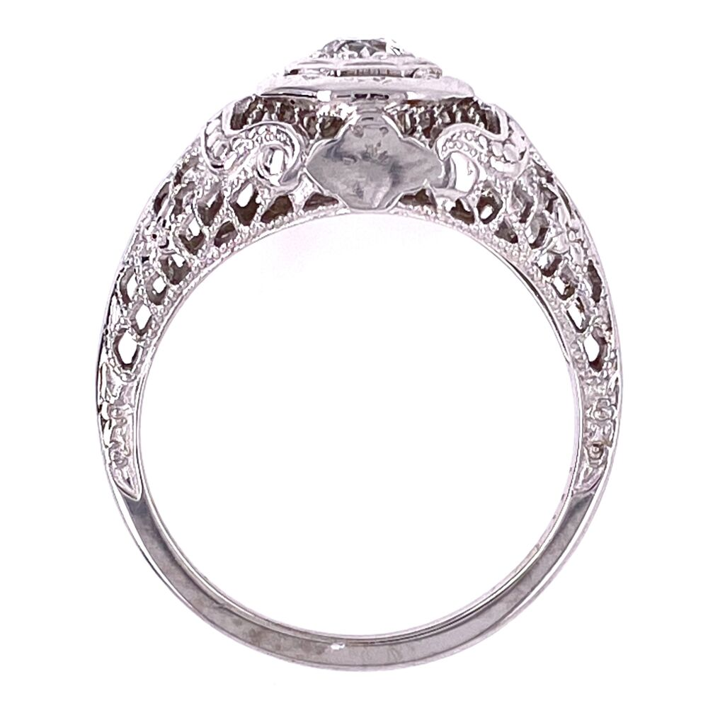 Image 5 for 18K WG Art Deco .17ct OEC Diamond Filigree Ring, s5.5