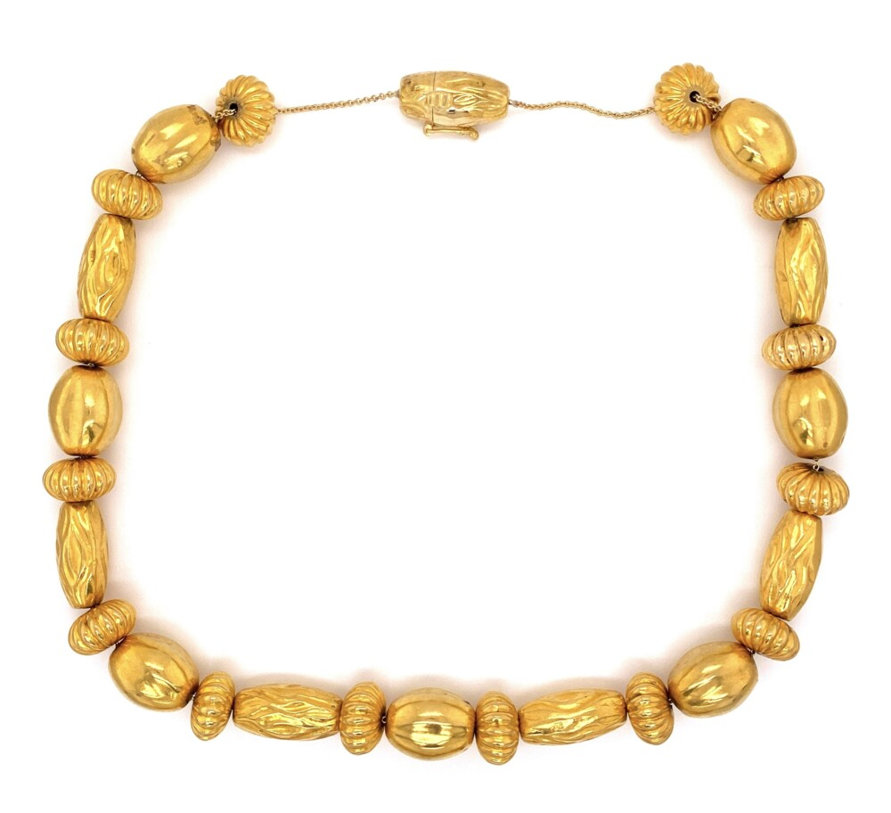18k YG LALAoUNIS Necklace with a Rich 22K Wash 69g 18in
