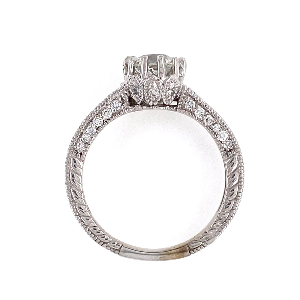 Image 2 for 14K WG .93ct Old European Cut Diamond GIA H-SI1 5202840962 in Ring 3.7g, s6.5