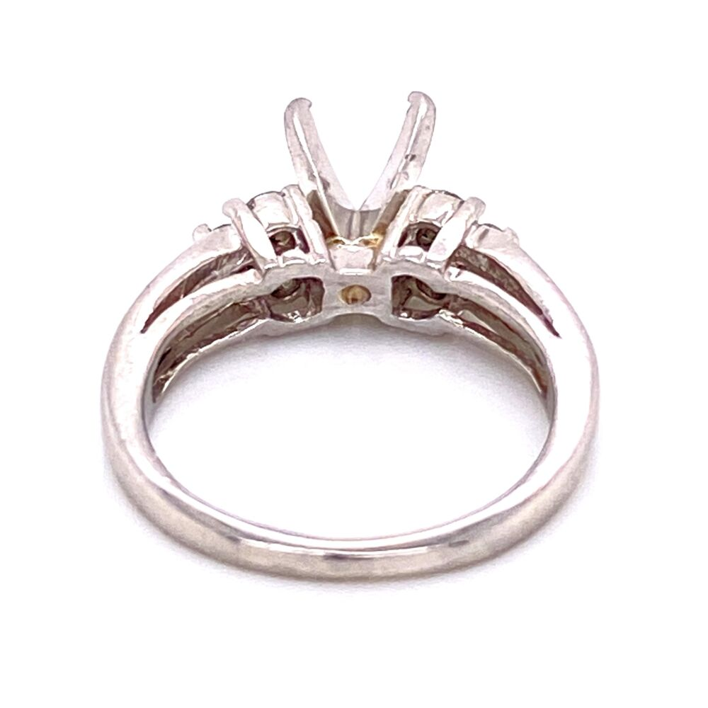 Image 2 for Platinum 950 Diamond Semimount Ring .50tcw 6.8g, s5.75