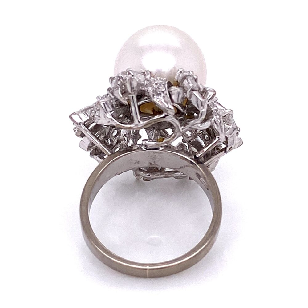 Image 2 for 18K WG 12mm South Sea Pearl & 2.45tcw Diamond Ring 12.7g