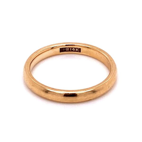 Closeup photo of 14K YG Classic Solid Stackable Band Ring 3.4g, s