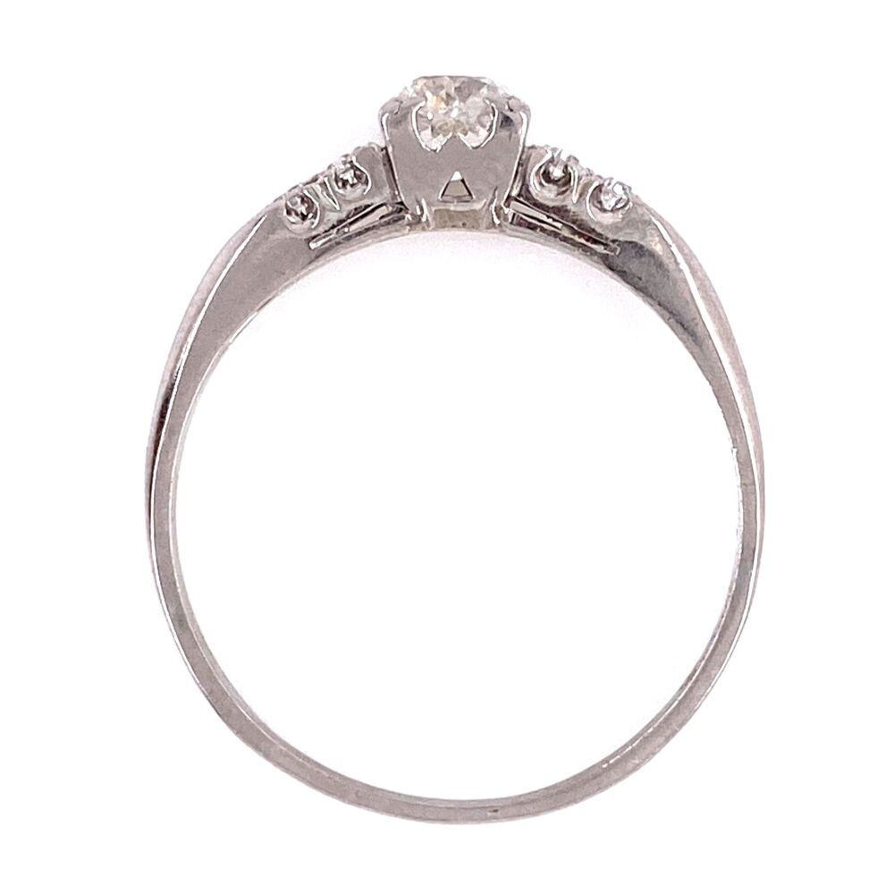 Image 2 for Platinum Art Deco Diamond Ring .55ct Diamond 3.7g, s