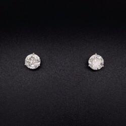 Closeup photo of 2.02tcw Round Brilliant Diamond Stud Earrings H-SI2