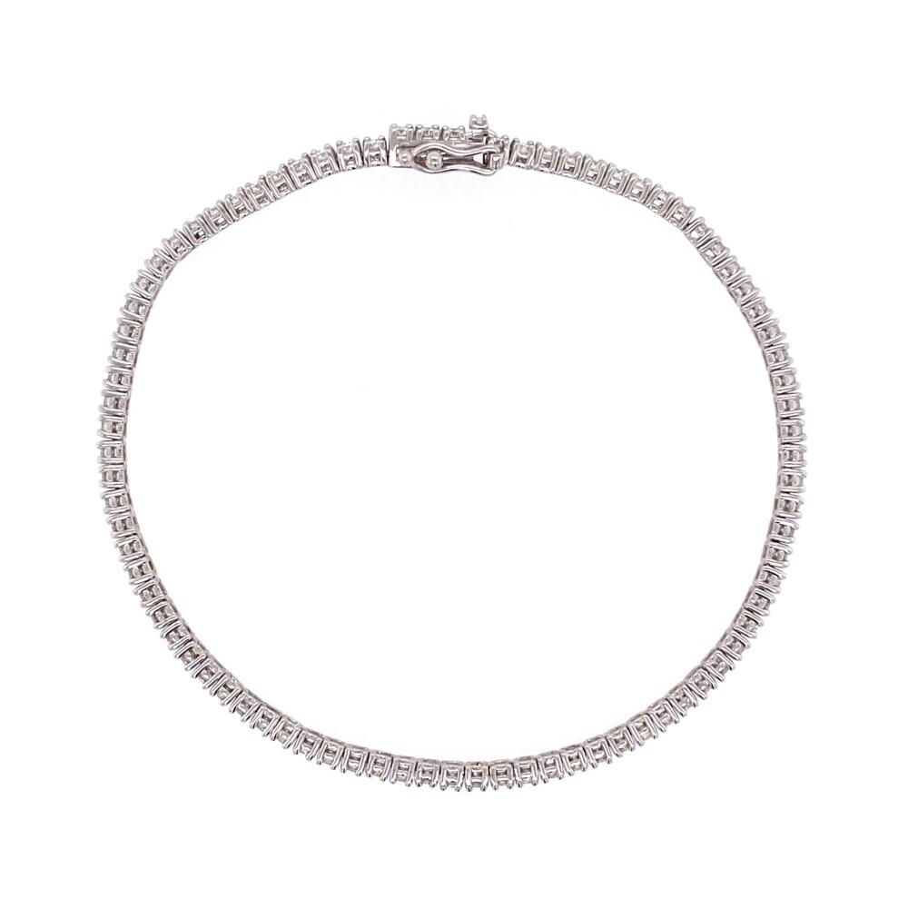 "Image 2 for 14K WG Straight Line Diamond Tennis Bracelet 1.91tcw, 7"""