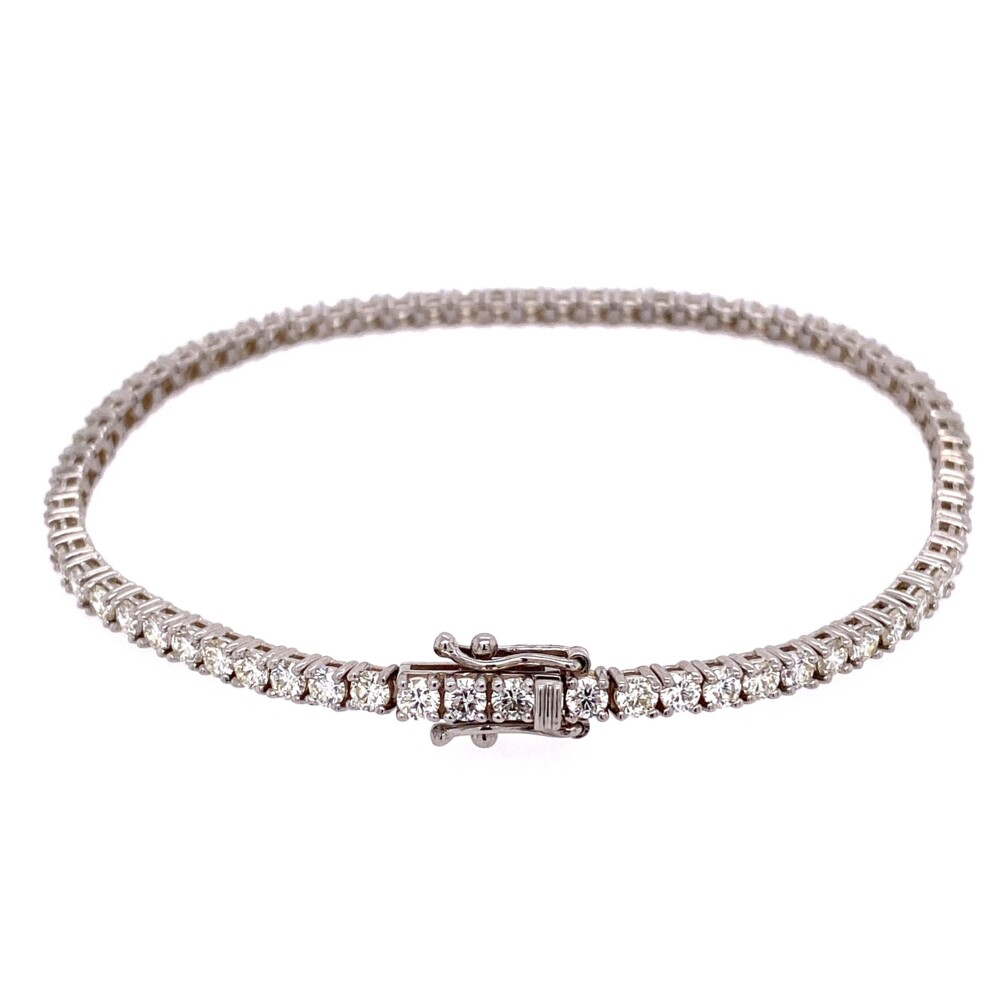 "Image 2 for 14K WG Straight Line Diamond Tennis Bracelet 3.76tcw, 7"""