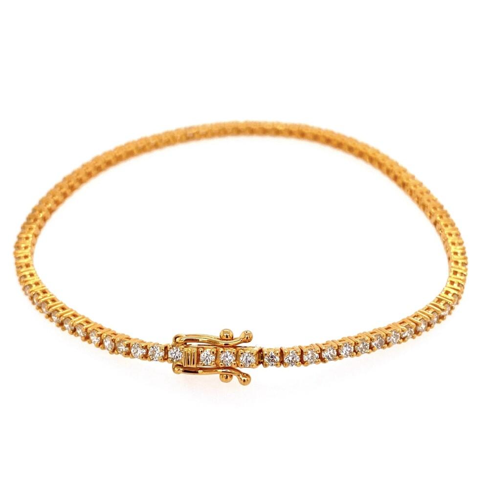 "Image 2 for 14K YG Straight Line Diamond Tennis Bracelet 1.76tcw, 7"""
