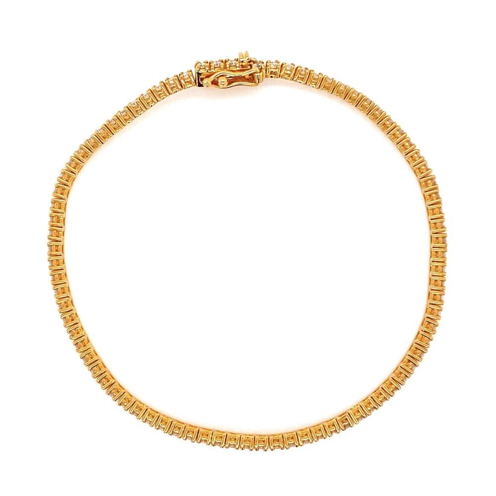 "14K YG Straight Line Diamond Tennis Bracelet 1.76tcw, 7"""