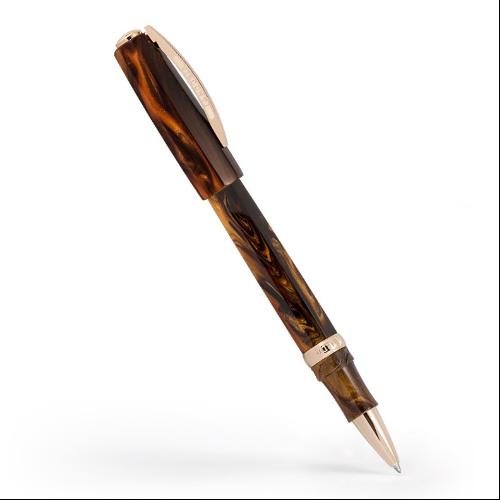Visconti Medici Acrosilk Briar/Rose Gold Rollerball Pen