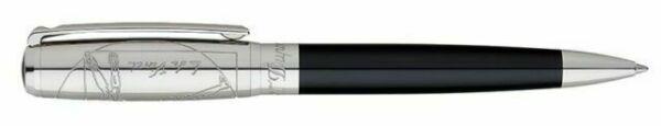 Closeup photo of St Dupont Limited Edition Da Vinci Vitruvian Man 415036 Ballpoint Pen