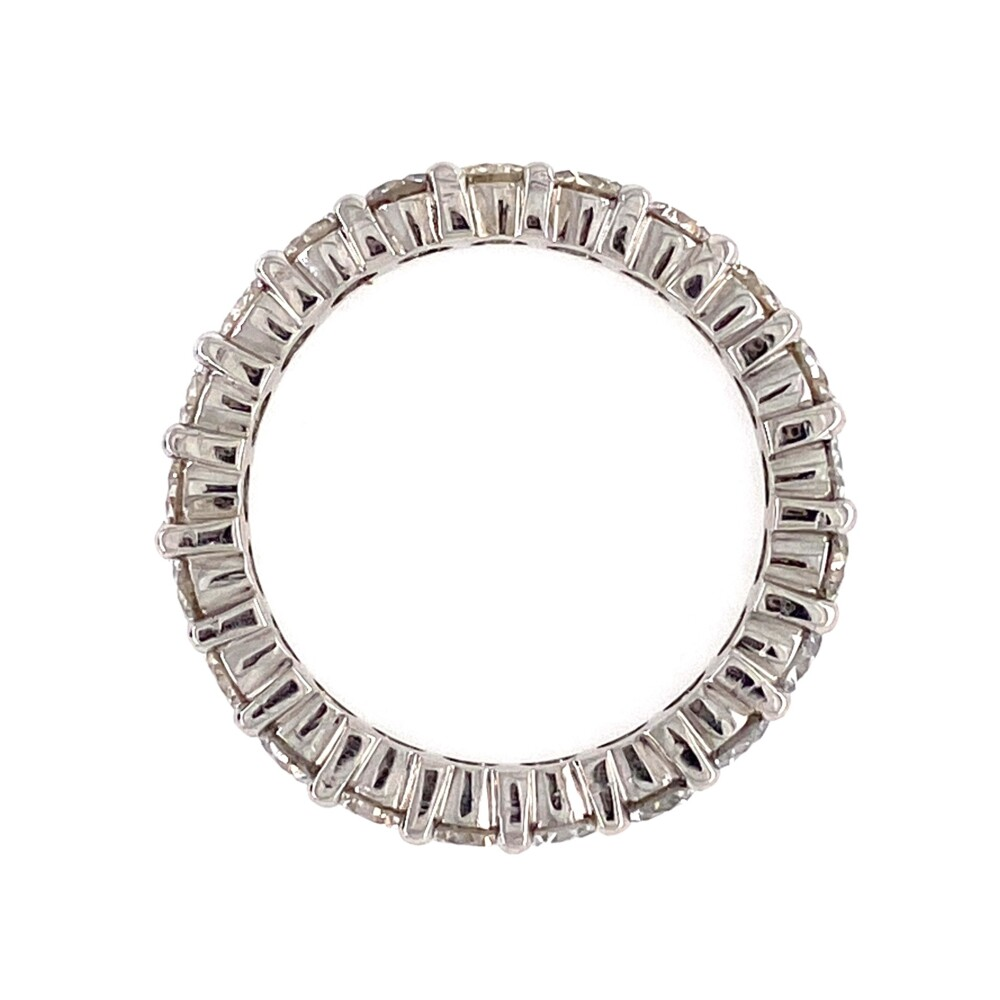 Platinum Diamond Shared Prong Eternity Band 2.75tcw, s6.75