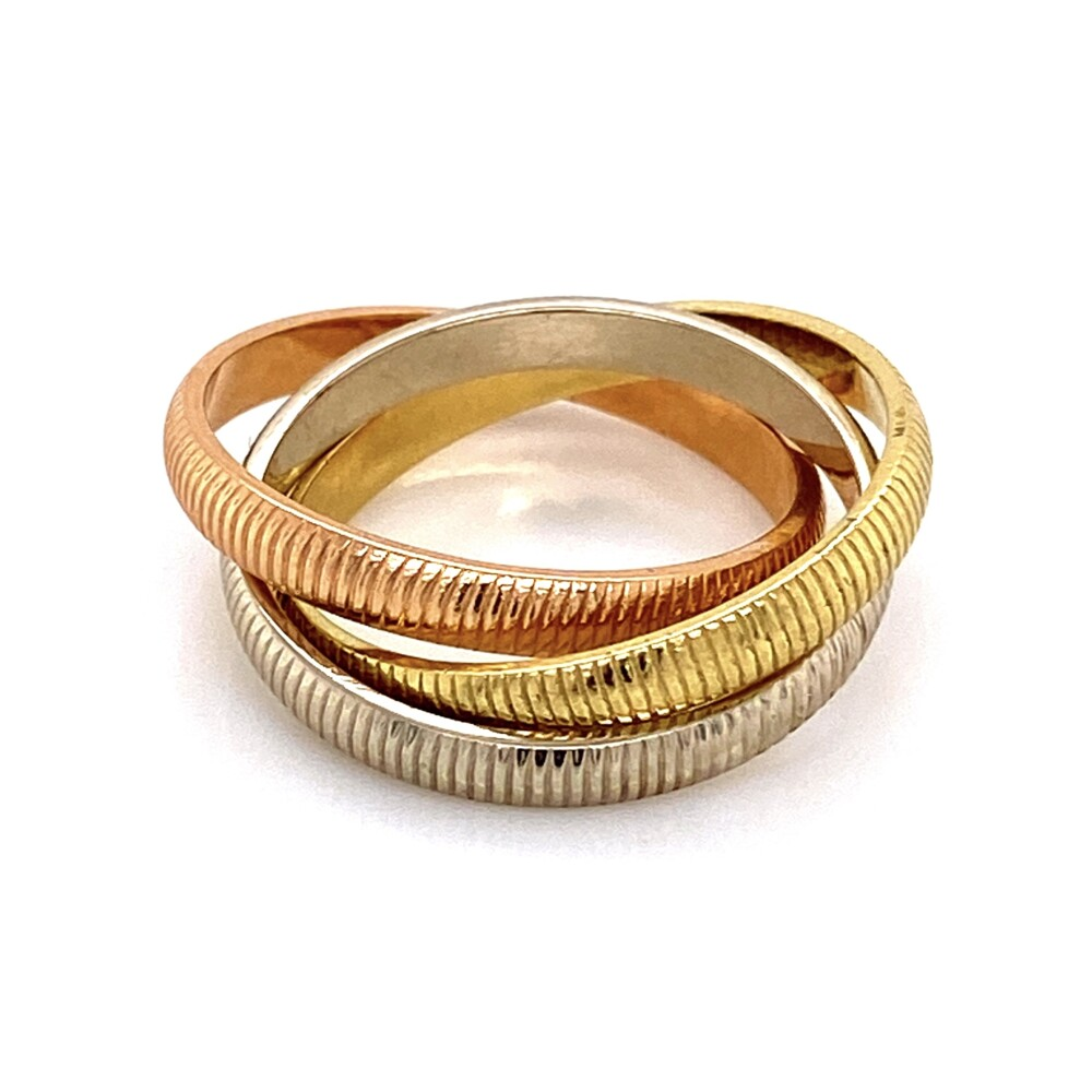 Image 2 for 18K Tri Color CARTIER Trinity Rolling Ring c1970, 6.6g, s6.25