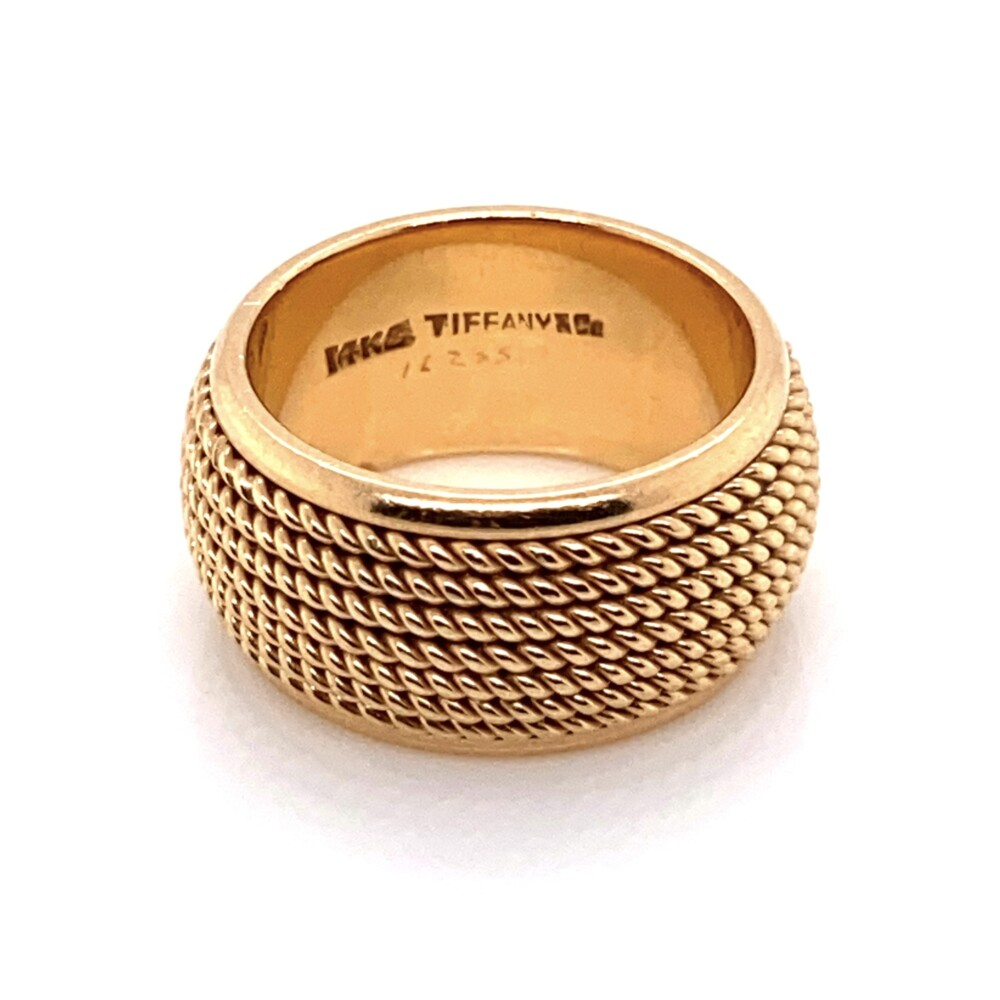 14K Yellow Gold TIFFANY & CO Rope Wrapped Band 12.8g, s5.75
