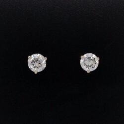 Closeup photo of 1.05tcw Round Brilliant Diamond Studs G/H-SI2