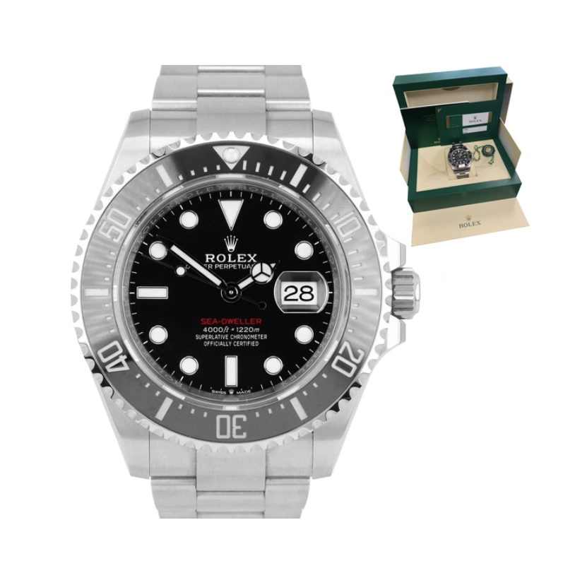 Rolex 126600 BNIB Complete 43mm Stainless Steel Sea Dweller Red