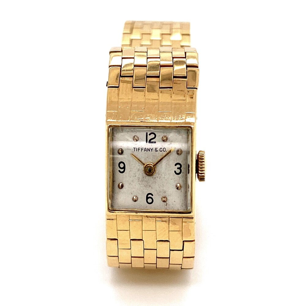 "14K YG Tiffany & Co. Watch Movado Movement 28.4g, 6.5"""