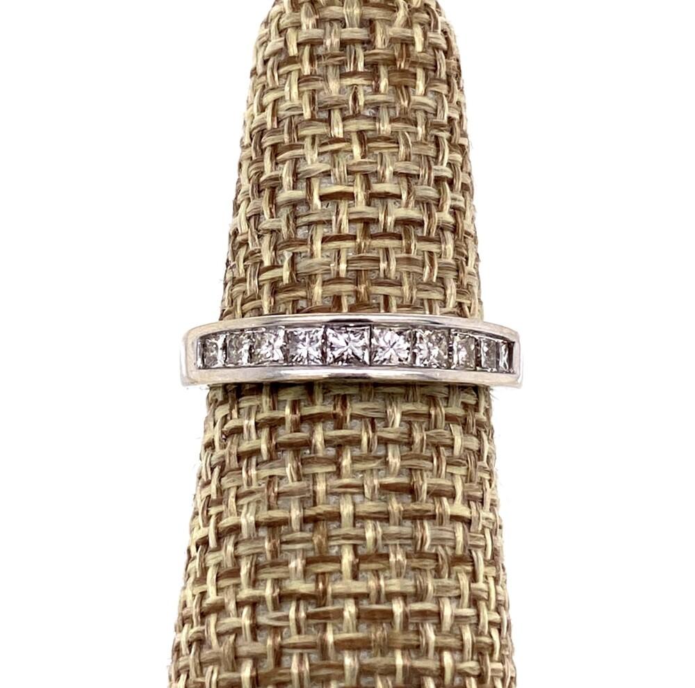 14K WG Stack Band .69tcw Diamonds 2.2g, s5