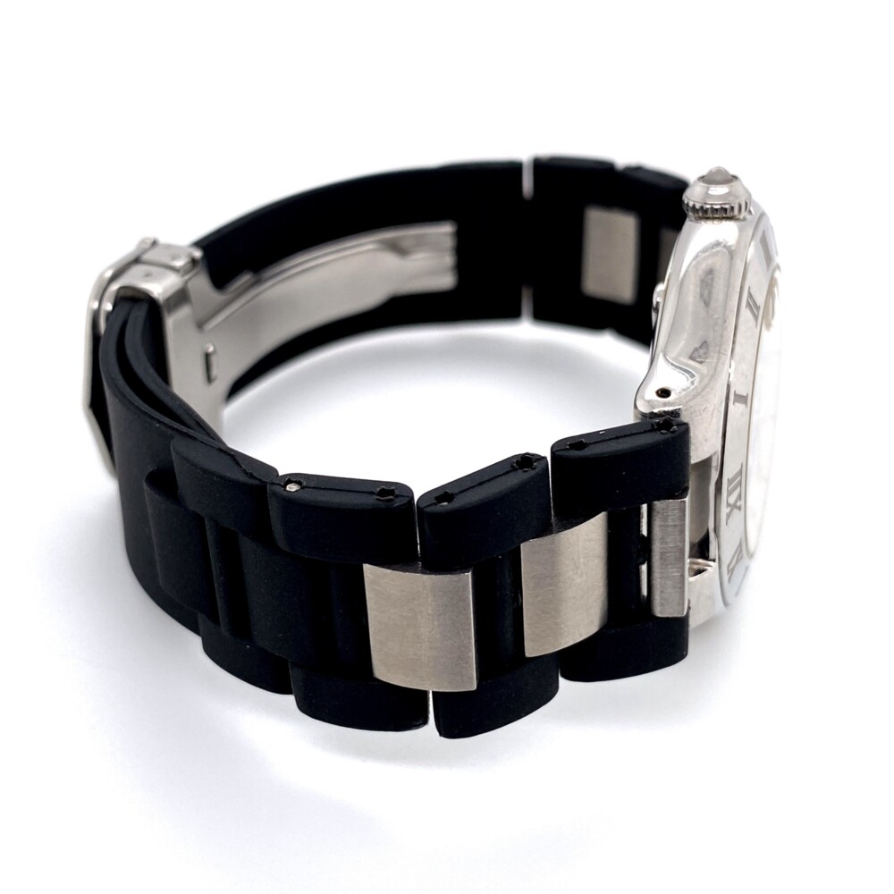Cartier Autoscaph 21 ref: 2427 Steel & Rubber Deployant Buckle
