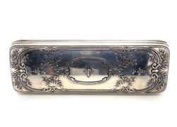 "Closeup photo of 925 Sterling TIFFANY & CO Engraved Box 5.5"" c1900"