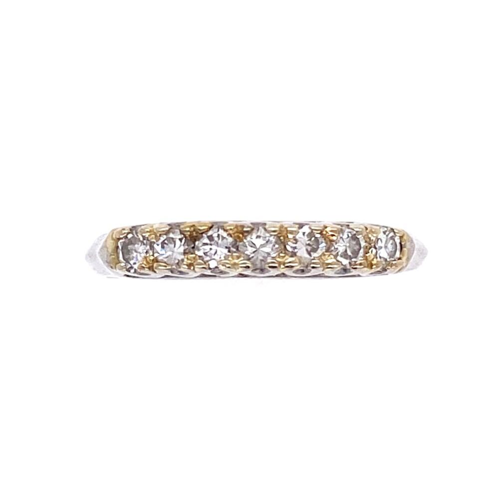 Platinum 1930's 7 Diamond Band .21tcw, 2.1g, s4.5