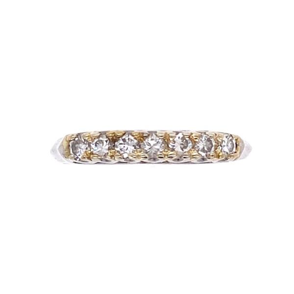Closeup photo of Platinum 1930's 7 Diamond Band .21tcw, 2.1g, s4.5