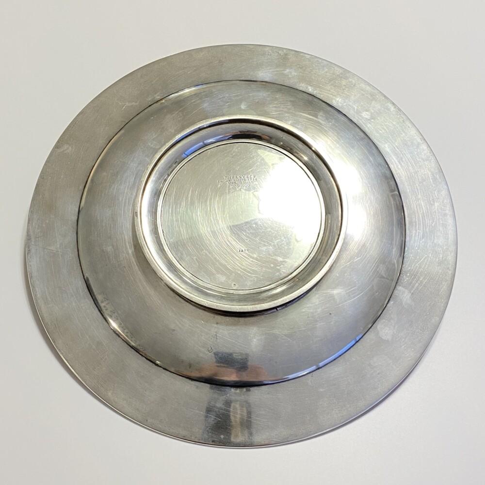 """Image 2 for 925 Sterling Tiffany & Co Engraved 12"""" Serving Platter c1900, 776g"""