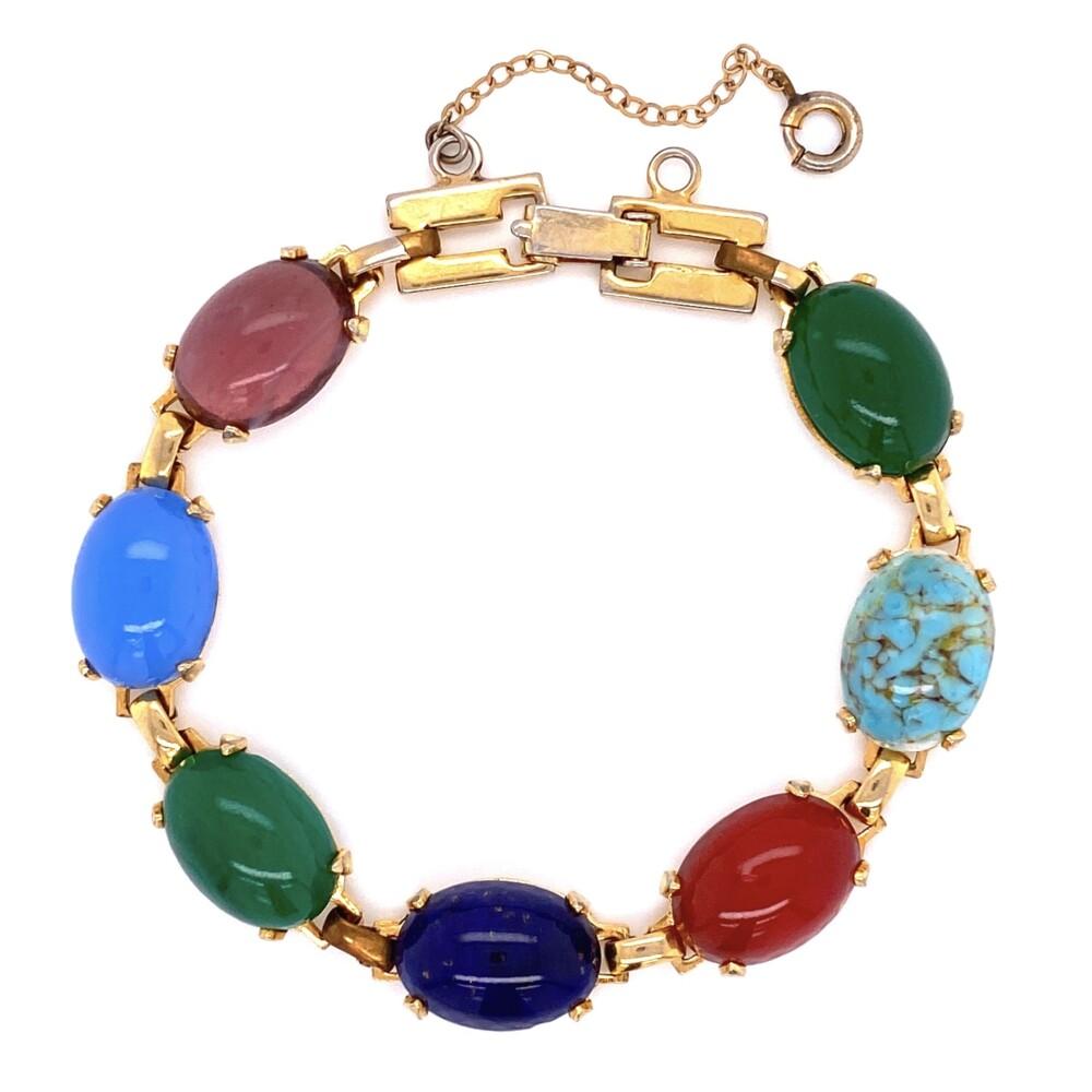 "GF Yellow Multi-Gemstone Bracelet 14.8g, 6.5"""