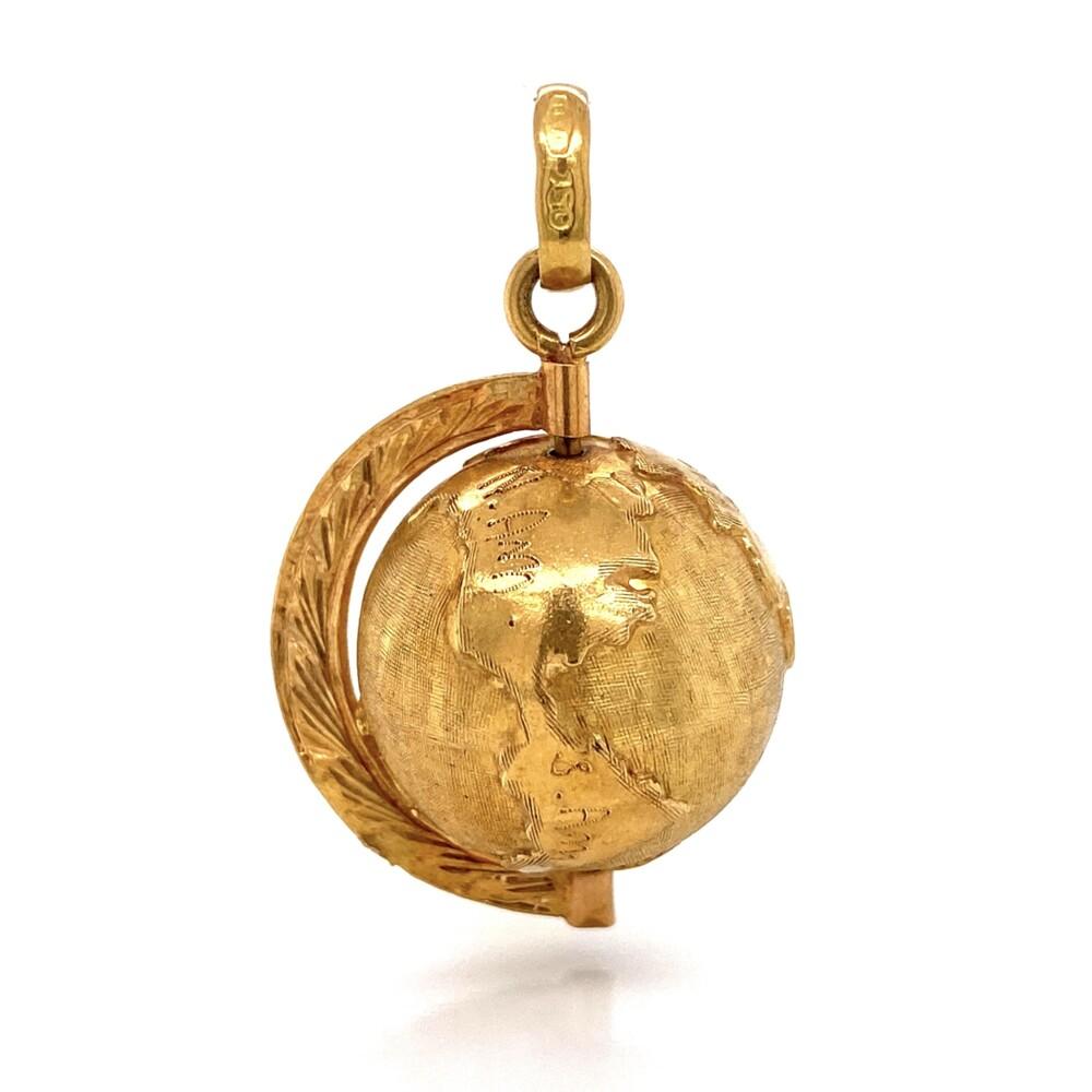 18K YG Spinning Globe Charm 6.1g