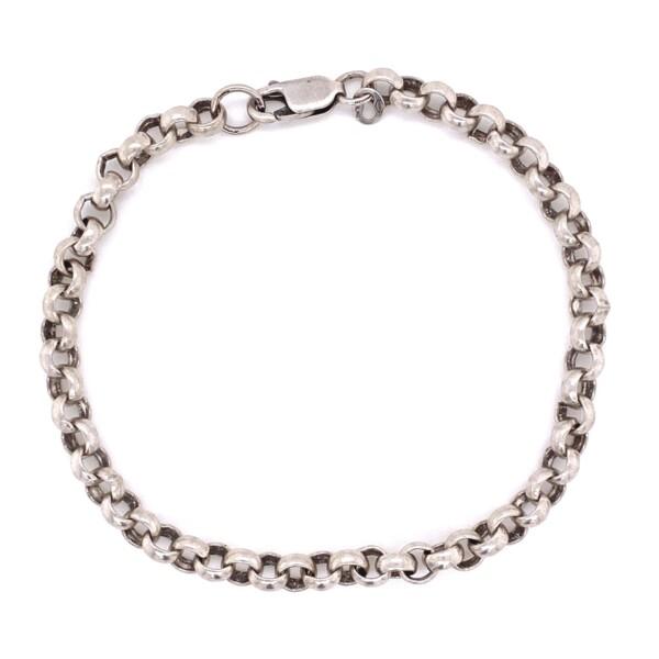 """Closeup photo of 925 Sterling 5mm Link Bracelet 11.0g, 7.5"""""""