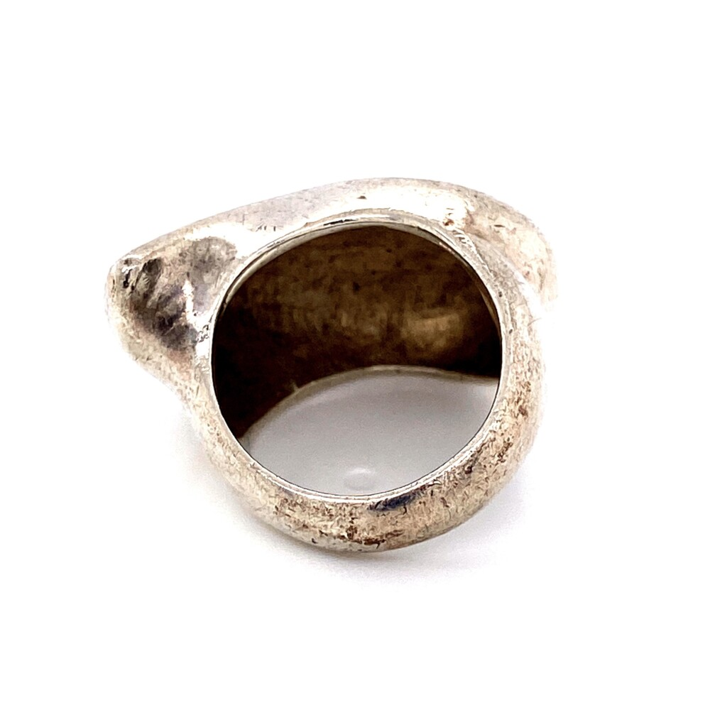 925 Sterling Tear Drop Bean Ring 15.4g, Size 6.25