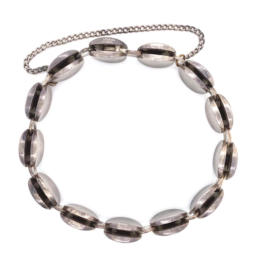"""925 Sterling GEORGE JENSEN 13 Link Bracelet 60.9g, 7.25"""""""