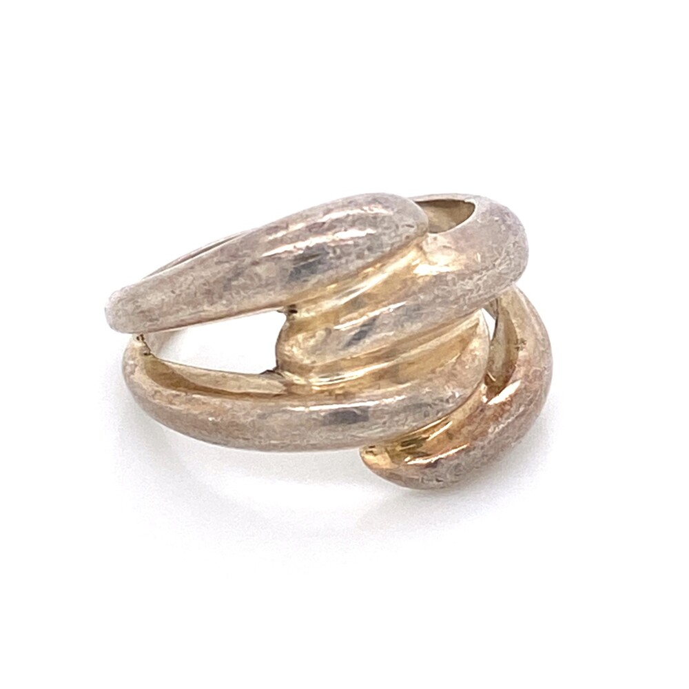 925 Sterling Double Bypass Ring 4.1g