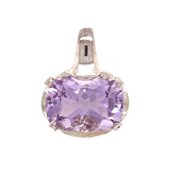 Closeup photo of 925 Sterling 20ct Lilac Amethyst Pendant 8.8g