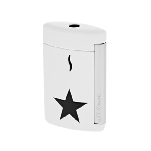 S.T. Dupont Minijet Star Lighter, Chrome, White, 010532 - Platinum 1911