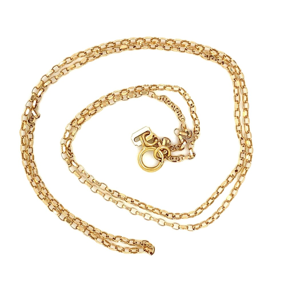 """Image 2 for 14K YG Oval Link Chain 2.6g, 20"""""""