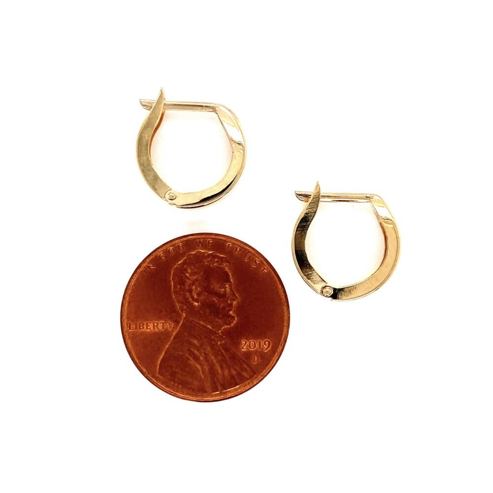 "Image 2 for 14K YG Polished Huggie Hoop Earrings 0.85g, 0.5"" Tall"