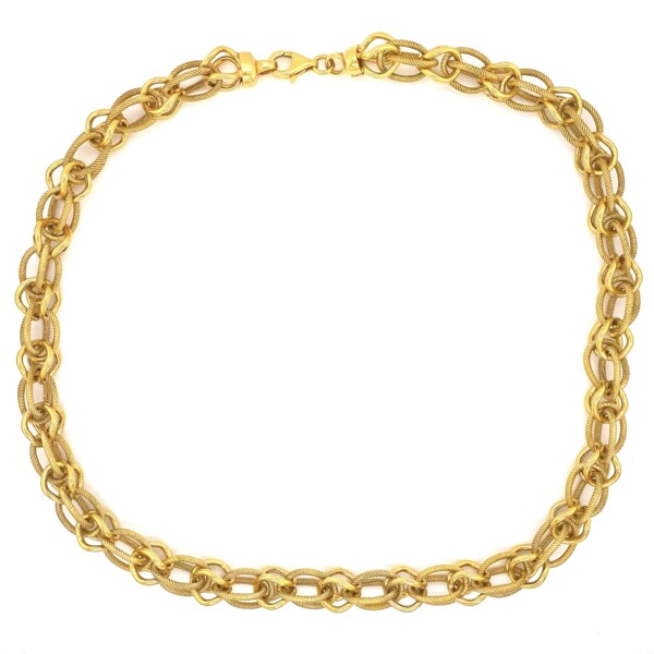 """Closeup photo of 925 Gold Filled Italian Multi Link Chain 30.8g, 17.5"""""""