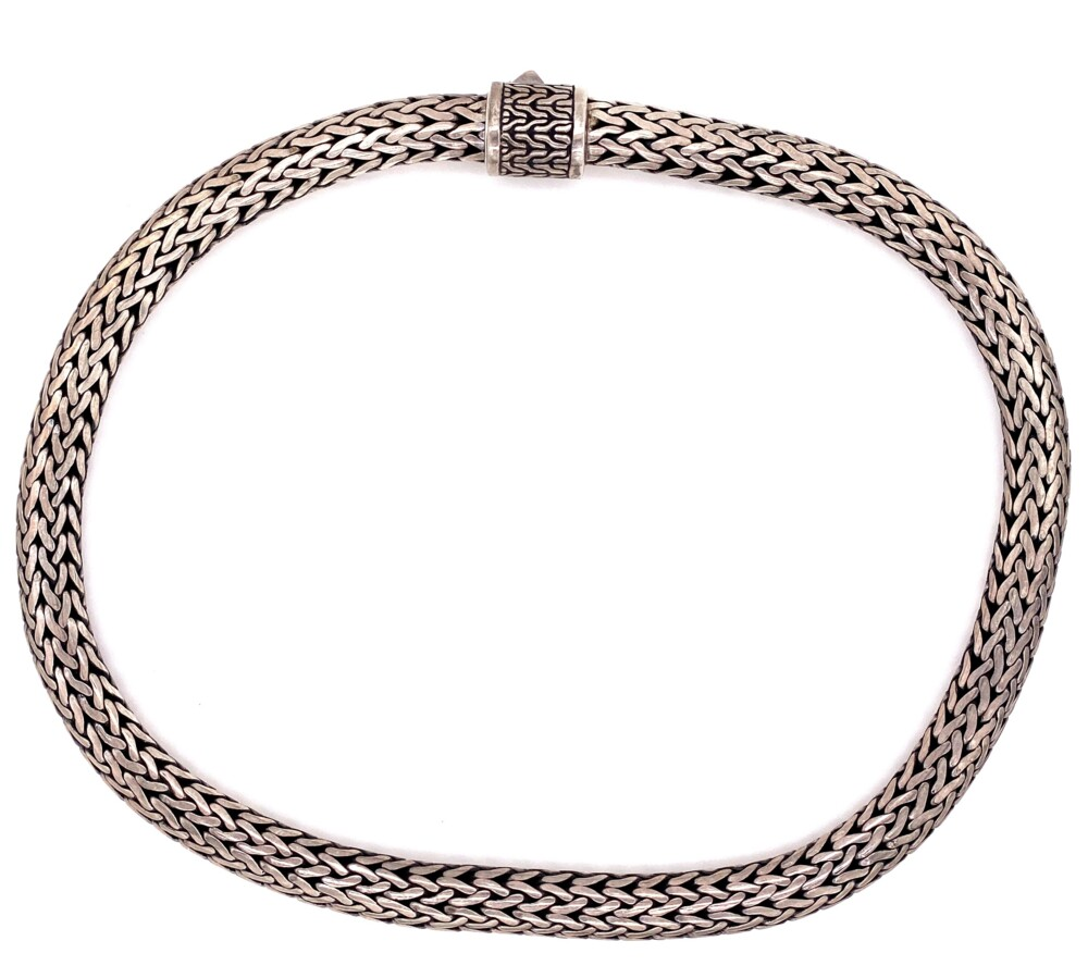 """925 Sterling Heavy Rope Necklace 170g, 18"""""""